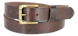 "Men's Vintage Style Full Grain Leather 1-1/8"" Wide Belt (Brown, 32) - $22.72"
