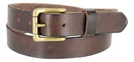 "Women's Vintage Style Full Grain Leather 1-1/8"" Wide Belt (Brown, 32) - $22.72"