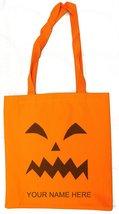 Scary Pumpkin 14 Inch Safety Orange Canvas/Nylon Trick or Treat Bag - $143,61 MXN