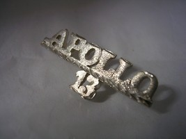 APOLLO 13 TIE TAC COLLAR PIN BRUSHED AND DIAMOND CUT FINISH IN STERLING ... - $18.65