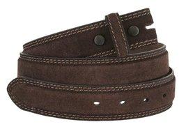 "Fullerton 351000 Genuine Full Grain Suede Leather Belt Straps 1-3/8""(35mm) - ... - $16.78"