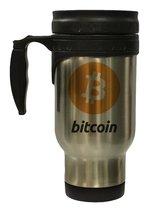 Bitcoin Logo Hot/ Cold Travel Mug - $16.28