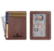 Front Pocket Wallet Minimalist Wallet Slim Wallet Top Grain Genuine Leather - $24.54