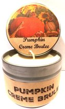 Pumpkin Crme Brulee 4oz All Natural Novelty Tin Soy Candle, Take It Any ... - $6.23