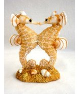 Resin Double Kissing Seahorse with Sand and Shells - Small At 3.5 - $2.83
