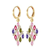 Fashion Elegant Jewelry Beautiful Oval Melodic Golden Earrings Design - $8.40