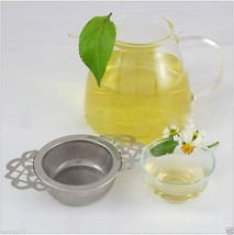 Lovely Kitchen Stainless Steel Strainer Tea Filter Drainer with a Drip Bowl Gift - $7.86
