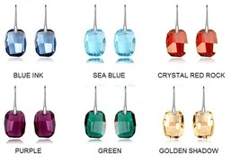 Hypoallergenic Crystal Stone Medical Stainless Steel Fashion Elegant Earrings - $13.48