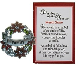 Blessings of the Season Christmas Wreath Charm With Story Card! (Family) - $73,49 MXN