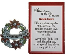 Blessings of the Season Christmas Wreath Charm With Story Card! (Friendship) - $3.79
