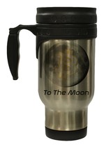 Bitcoin to the Moon Stainless Steel 12 oz Hot Cold Travel Mug - $16.27