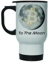 Bitcoin to the Moon 12 oz Hot Cold Travel Mug - $19.15