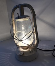 Vintage Dietz Lantern Lamp Monarch Converted To Electric NY Fit Tall White - $96.74