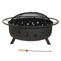 Fire Pit Grill Large Cooking Wood Burning Screen Tools Cover Outdoor Backyard image 3