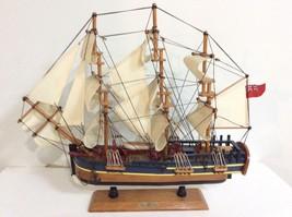 "HERITAGE MINT L.T.D. 19"" LONG WOOD/FABRIC MODEL SHIP THE H.M.S ENDEAVOR - $48.95"