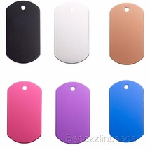 1 1/2 inch Blank Aluminum Dog Tag Charm for Stamping Engraving in Bright... - $2.29