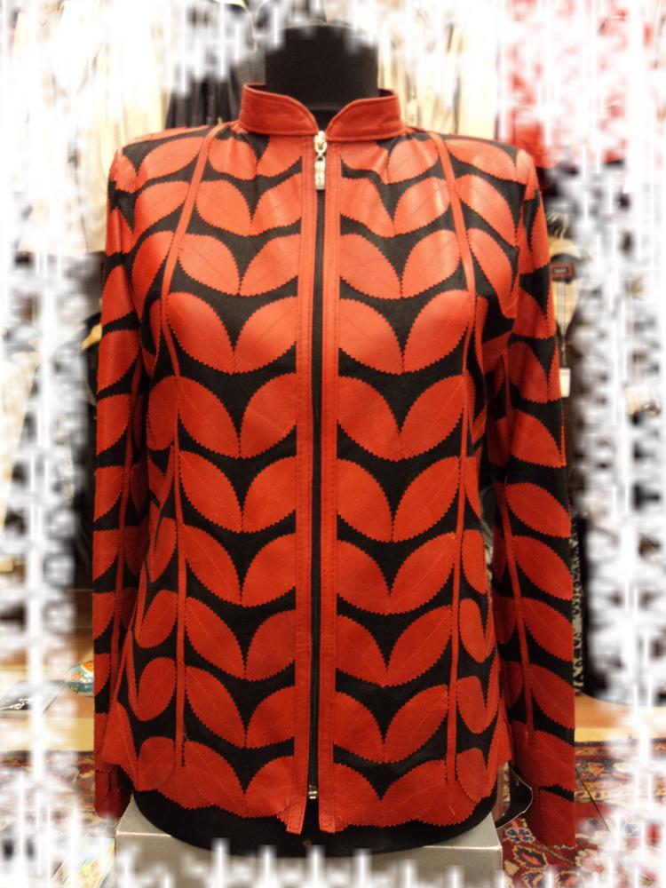 Burgundy Leather Leaf Jacket Women All Colors Sizes Genuine Short Zip Light D1