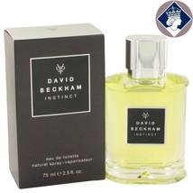 David Beckham Instinct 75ml/2,5 Oz Eau De Toilette Spray Men Cologne Parfum - $70.47