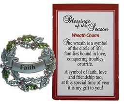 Blessings of the Season Christmas Wreath Charm With Story Card! (Faith) - $73,68 MXN