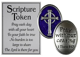 Ganz Holy Scripture Double Sided Pocket Charm with Story Card (1 Thes 5:17) - $3.36