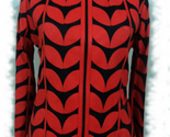 Womens orange leather leaf jacket xl 1 thumb155 crop