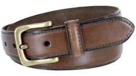 "Adjustable Vintage Style Casual Dress Genuine Leather Belt 1-3/8"" wide (Brown... - $19.79"