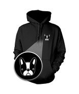 French Bulldog Hoodie Pocket Print Sweatshirt For Dog Lovers - $25.99+