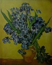 Irises in a Vase - Vincent van Gogh - Framed pi... - $35.50