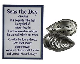 Ganz Seas the Day Shell Inspirational Message Pocket Charm with Story Ca... - $65,15 MXN