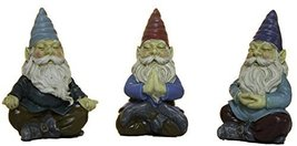 Ganz Set of Three 3 Inch Meditation Yoga Gnomes - $17.23