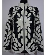 Beige Leather Leaf Jacket Women All Colours Sizes Genuine Lambskin Zip S... - $150.00