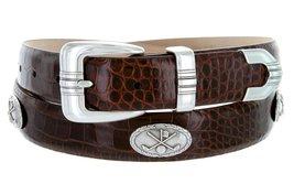 Golf Club - Men's Italian Calfskin Designer Dress Belt with Golf Conchos (48 ... - $39.55
