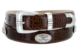 Golf Club - Men's Italian Calfskin Designer Dress Belt with Golf Conchos (50 ... - $39.55