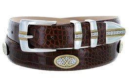 Towne - Men's Italian Calfskin Embossed Designer Dress Belt with Golf Conchos... - $39.55