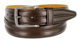 Mens Lejon Belt- Center Club Full Grain Genuine Steerhide Leather Dress Belt ... - $71.78