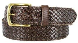 """Crossweave Braided Woven Full Grain Leather Casual Belt 1-1/2"""" = 38mm wide - ... - $19.75"""