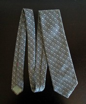 Vintage Wide Necktie Tie Wemlon by Wembley for Blue Black or Gray Suit - $7.84