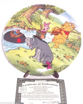 Disney Winnie Pooh Collector Plate Going Fishing Fun 100 Acre Woods Brad... - $59.95