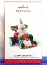 Hallmark 2014 Santa's Sweet Ride Christmas Ornament Series #8 Race Car - $18.90