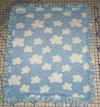 "Clouds in the Blue Sky Blanket Fleece Pet Lap 30"" x 24"" Hand Tied New - $39.95"