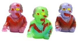 Set of Three 2.5 Inch Rubber Zombie Finger Puppets - Grotesque Gramps - $5.72