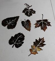 Metal Wall Art Assorted Leaves Set of 6 Metal Art - $29.69