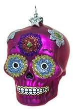 2.5 Inch Day of the Dead Sugar Skull Christmas/Everyday Ornament (Pink) - $11.47