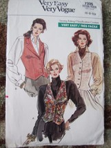 7335 Vogue Very Easy Vintage 80's Vest Pattern UnCut Sz. 6-8-10 - $5.89