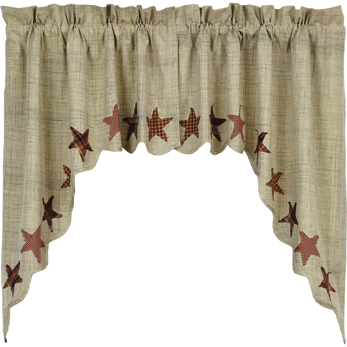 Abilene Star - Swag Set of 2 - 36x36x16 - Window Treatment