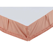 Adelia - Apricot - Soft Cotton - Bed Skirt
