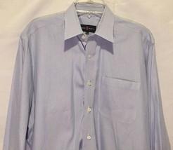 MENS ROBERT TALBOTT BLUE WHITE STRIPED LONG SLEEVE DRESS SHIRT SIZE 16.5 36 - €25,20 EUR