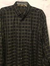 Robert Talbott Black & Gold Tattersall Check Casual Dress Shirt  Men's L... - €25,20 EUR