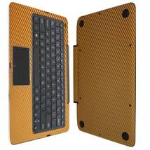 Skinomi Gold Carbon Fib Tablet+Keyboard Skin Fo... - $38.60