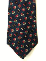 Villa Bugatti Silk Neck Tie Blue Geometric Circles - $8.86
